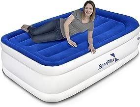 EnerPlex Plush Built-in Pillow Luxury Twin Air Mattress with Built-in Pump & Pillow..