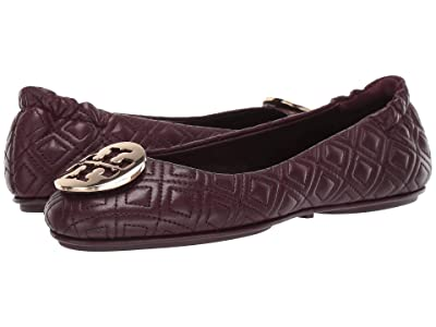 Tory Burch Quilted Minnie (Port) Women