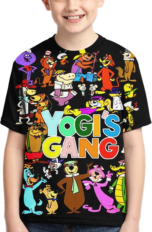 Yo-gi Bear T Shirt,3D Print Funny Polo Shirts Short Sleeve Tops,for Youth Tee Boys Girls