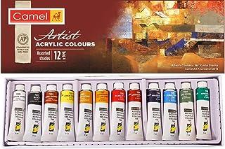 Camel Acrylic Color Box - 9Ml Tubes, 12 Shades