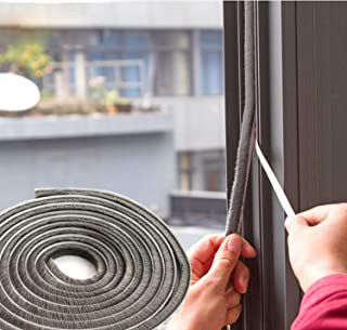 SRHOME 32.8 ft Self Adhesive Seal Strip Weatherstrip for Window,Door,Wardrobe,Car,Perfect to Windproof Shelter from The Wind,Dustproof,Soundproof Sound Deadener (0.35
