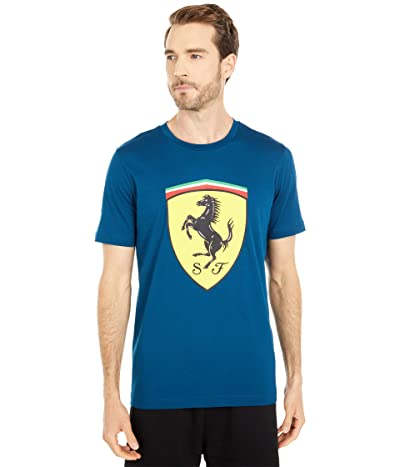 PUMA Ferrari Race Big Shield Tee+ (Gibraltar Sea) Men