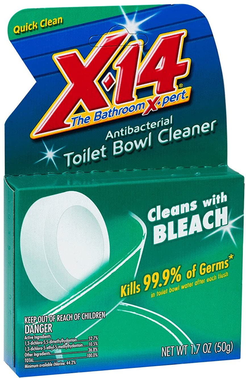 X-14?Bleach Automatic Toilet Bowl Cleaner, 1.7 OZ [12-Pack]