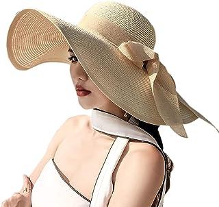قبعة واقية من الشمس للنساء قابلة للطي بحافة كبيرة مضادة للأشعة فوق البنفسجية من دبليو اس ال سي ان
