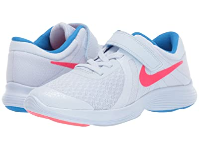 Nike Kids Revolution 4 Heat CHK (Little Kid) (Blue Tint/Red Orbit/Photo Blue) Kids Shoes