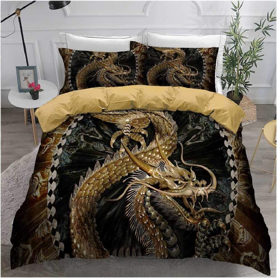 3D Bedding Set Chinese Sales Denver Mall for sale Dragon Print Cover Bedclothes w Duvet