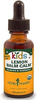Herb Pharm Kids Certified-Organic Alcohol-Free Lemon Balm Calm Liquid Extract, 1 Ounce