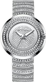 CRRJU Womens Luxury Casual Dress Quartz Wristwatches,Women Shining Stainsteel Steel Band Waterproof Watch