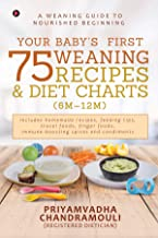 Your Baby's First 75 Weaning recipes and Diet Charts (6M-12M) : A weaning guide to nourished beginning