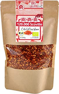 direct&friendly Bio Chili getrocknet extra scharf geschrotet 120.000 Scoville 250 g