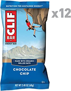 CLIF BAR - Energy Bars - Chocolate Chip - 2.4 Ounce (12 Count) Protein Bars