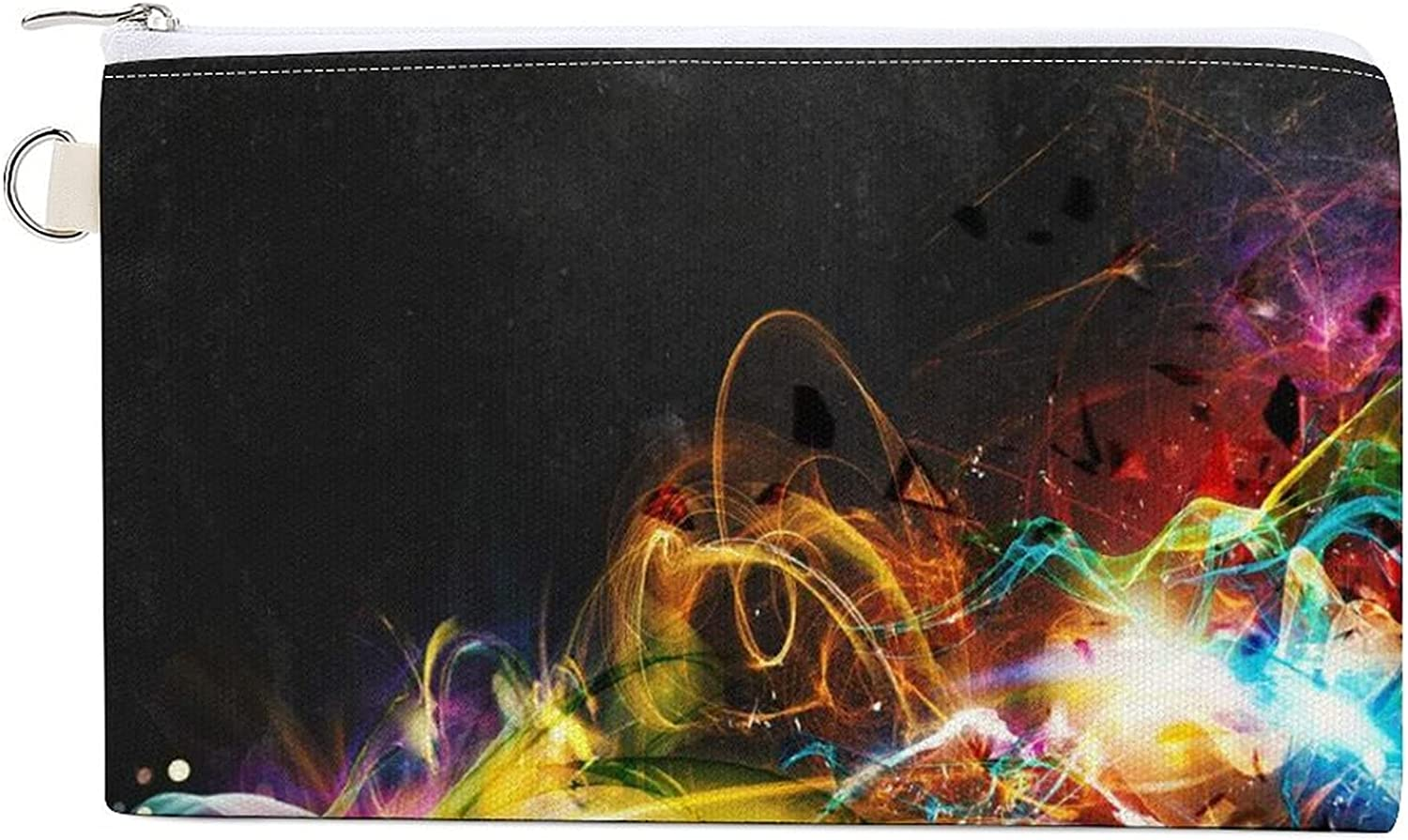 Abstract Motion Women's Canvas Coin Purse Change Pouch Zip Wallet Bag