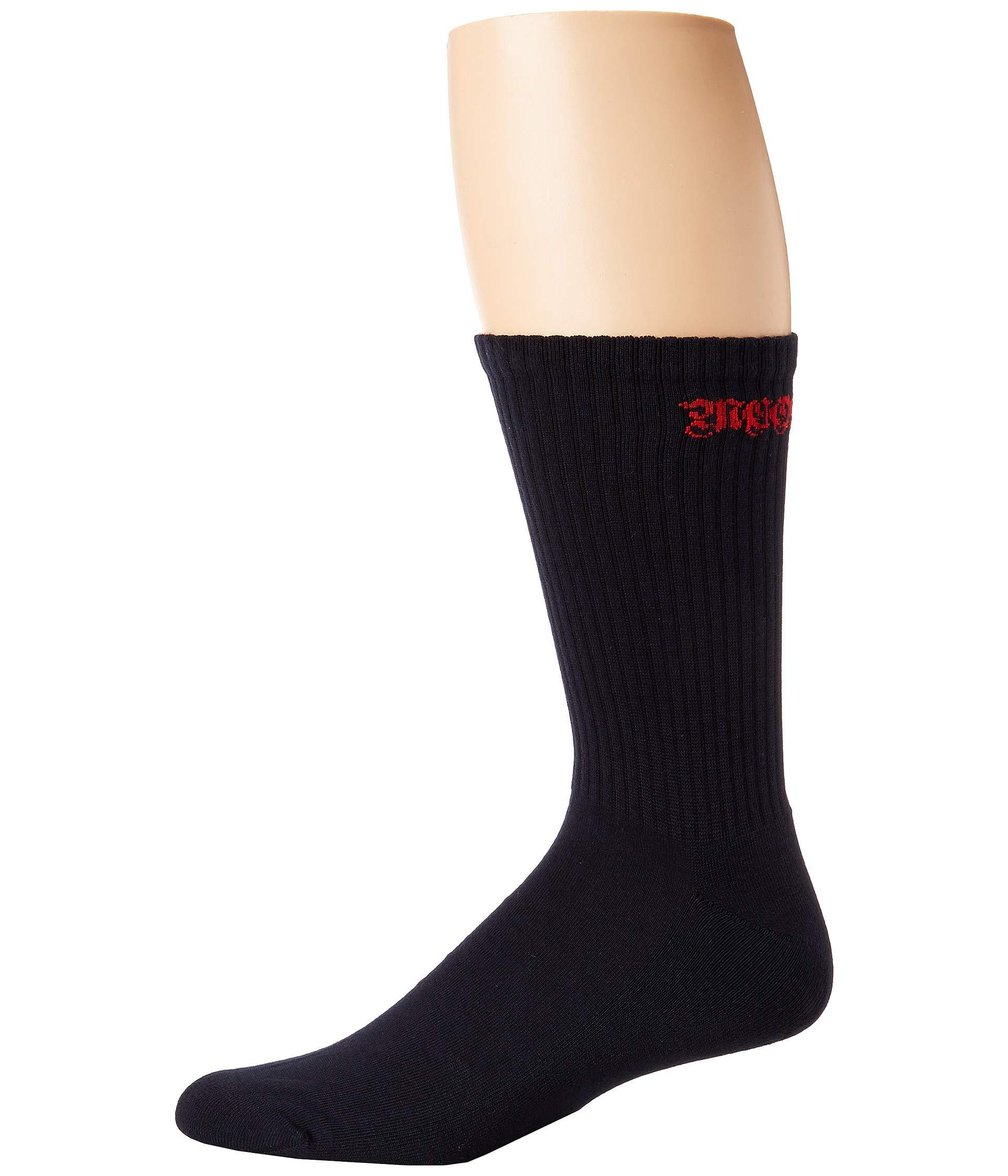 Mcqueen Alexander Logo Socks Navy Gothic red Bwq4Zgw