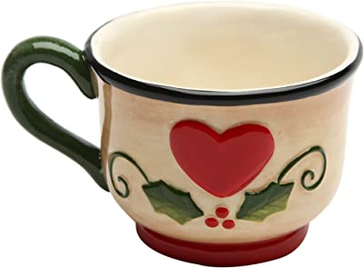 Cosmos 10937 Gifts Ceramic Seasonal Mug, 2-1/2-Inch, Set of 4