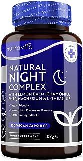 Natural Night Complex– with Lemon Balm, Chamomile, 5HTP, L