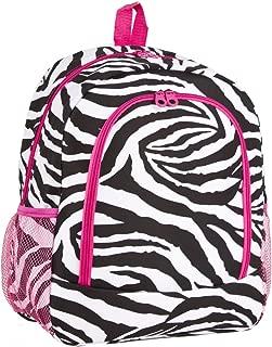 Zebra School Backpack (Pink)