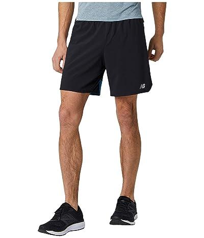 New Balance Impact Run 7-Inch Shorts (Mako Blue) Men