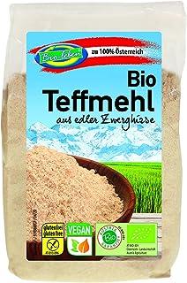 Bio Teffmehl – 6 x 300g – Gentechnik- und glutenfrei – Mehl aus stechapfelfreier, ungeschälter Zwerghirse – Aus Österreich – Rohkost