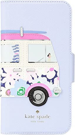 Surf Van Applique Folio Phone Case for iPhone X