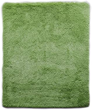 Designer Soft Shag Shaggy Floor Confetti Rug Carpet Home Decor 120x160cm Green Green 160x120cm