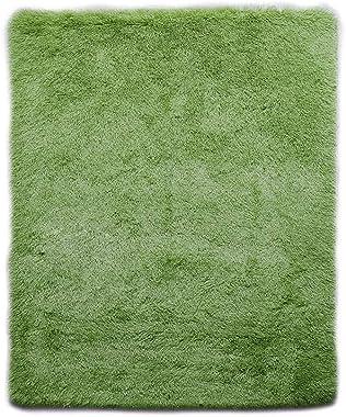 Designer Soft Shag Shaggy Floor Confetti Rug Carpet Home Decor 120x160cm Green Green 160x120cm