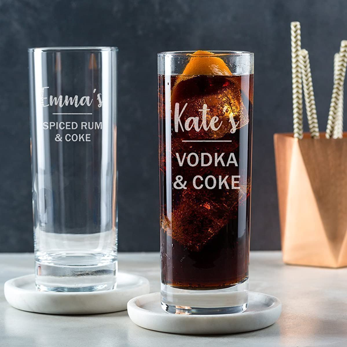 Personalised Highball Glass/Alcohol Gifts For Women / 21st Birthday Gifts For Her/Gin Rum Vodka Gifts For Women