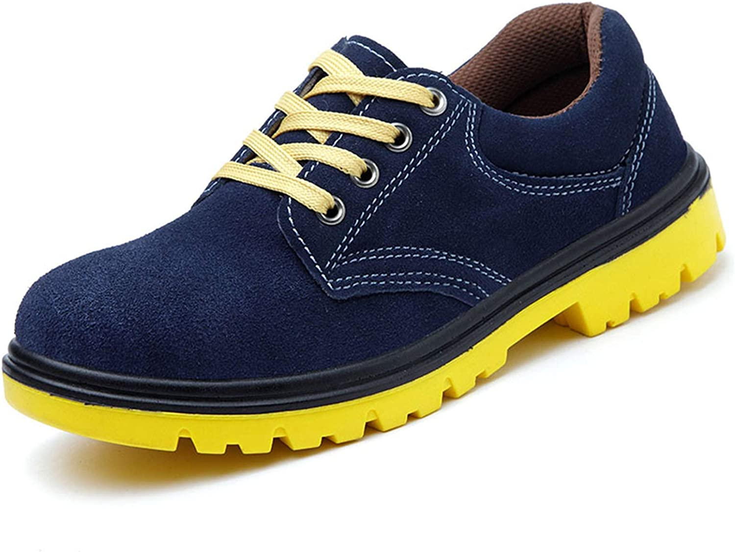 YLJXXY Men's Work Safety Shoes Breathable Industrial Steel Toe Outdoor Protection Footwear Puncture Proof Construction Slip Resistant Boots,Blue,40
