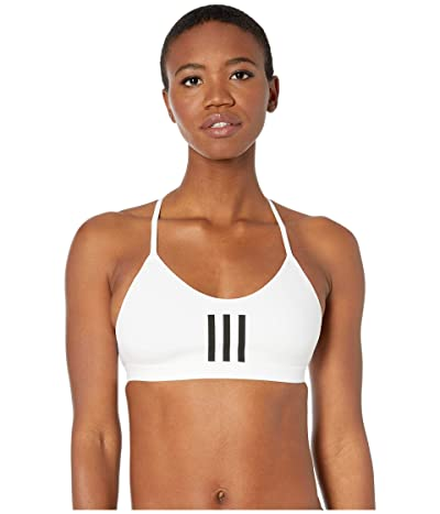 adidas All Me Stripe Mesh Bra (White/Black) Women