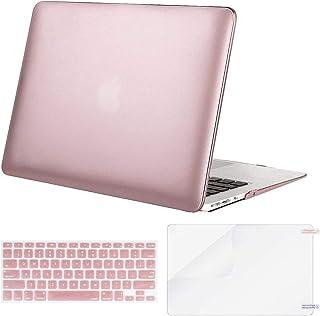 MOSISO Funda Dura Compatible con MacBook Air 13 Pulgadas (A1369 / A1466, Versión 2010-2017), Carcasa Rígida de Plástico & Cubierta de Teclado (USA Versión) & Protector de Pantalla, Oro Rosa