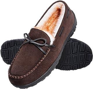 Sponsored Ad - shoeslocker Mens Slippers Warm Comfortable Plush Slippers