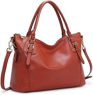 Women's Genuine Leather Handbags Shoulder Tote Organizer Top Handles Crossbody Bag Satchel Designer Purse