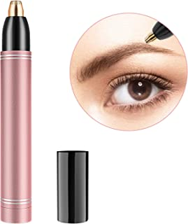 Eyebrow Hair Removal for Women - Electric Painless Eyebrow Hair Razor, Portable Eyebrow Hair Trimmer Shaver - Rose Gold, Metal Body