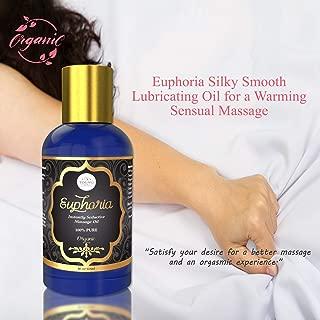 Euphoria Sensual Massage Oil for a Warming Stress Relief Massage - Organic Body Oil for Erotic Massage