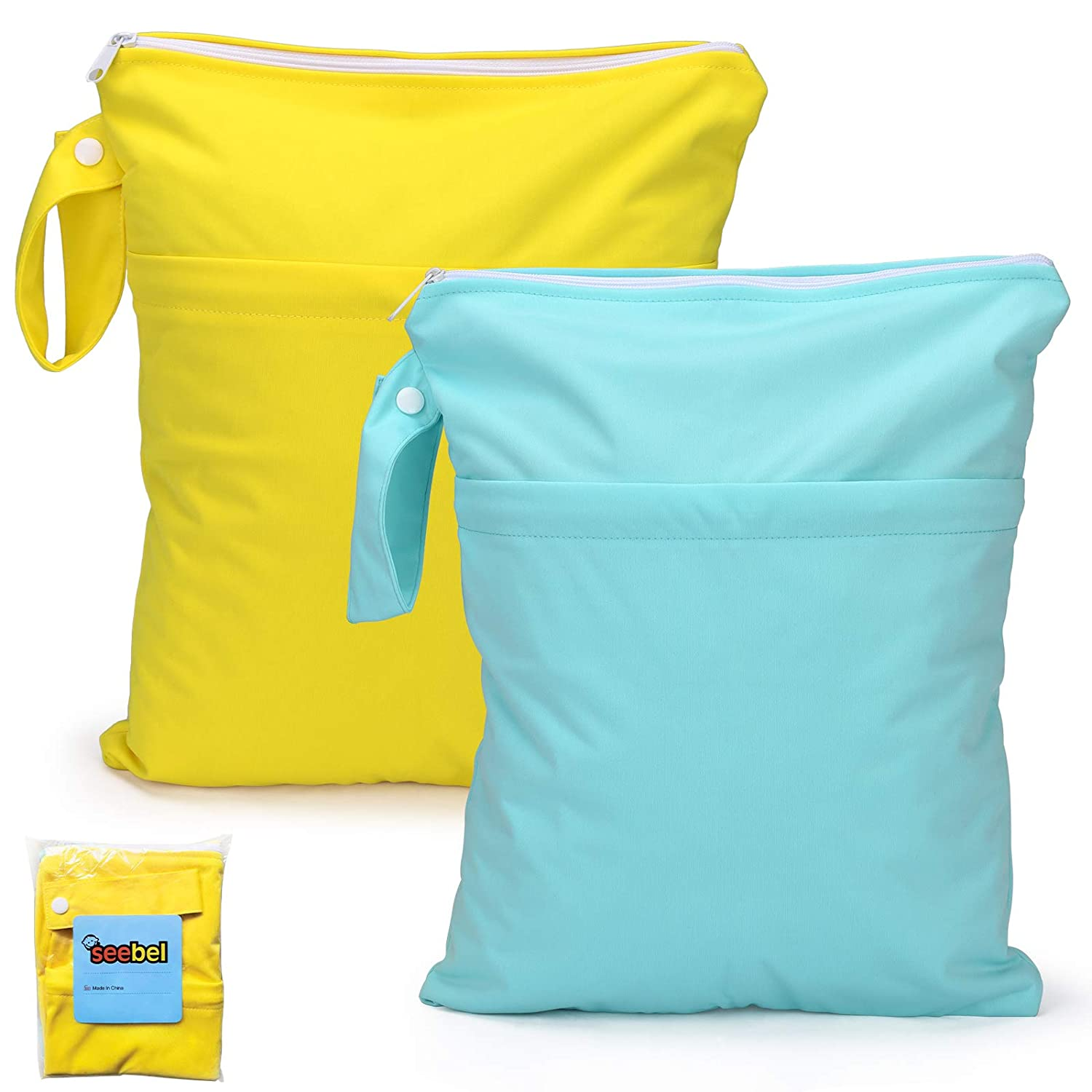 Seebel 2pcs Cloth Diaper Wet Popular product Direct sale of manufacturer Dry with Bags Reusable T Waterproof