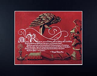 Edgar Allan Poe, The Raven, Fine Art Print Reproduction
