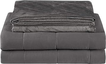 Laneetal Gewogen deken Angst Zware deken Grijs, Verwijderbare Super Soft Cover met Glaskralen, 7KG 120x180cm voor Eenperso...