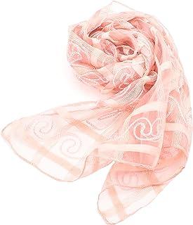 Confiance レディース ストール スカーフ シルク100% UVケア 乾燥対策 プレゼント