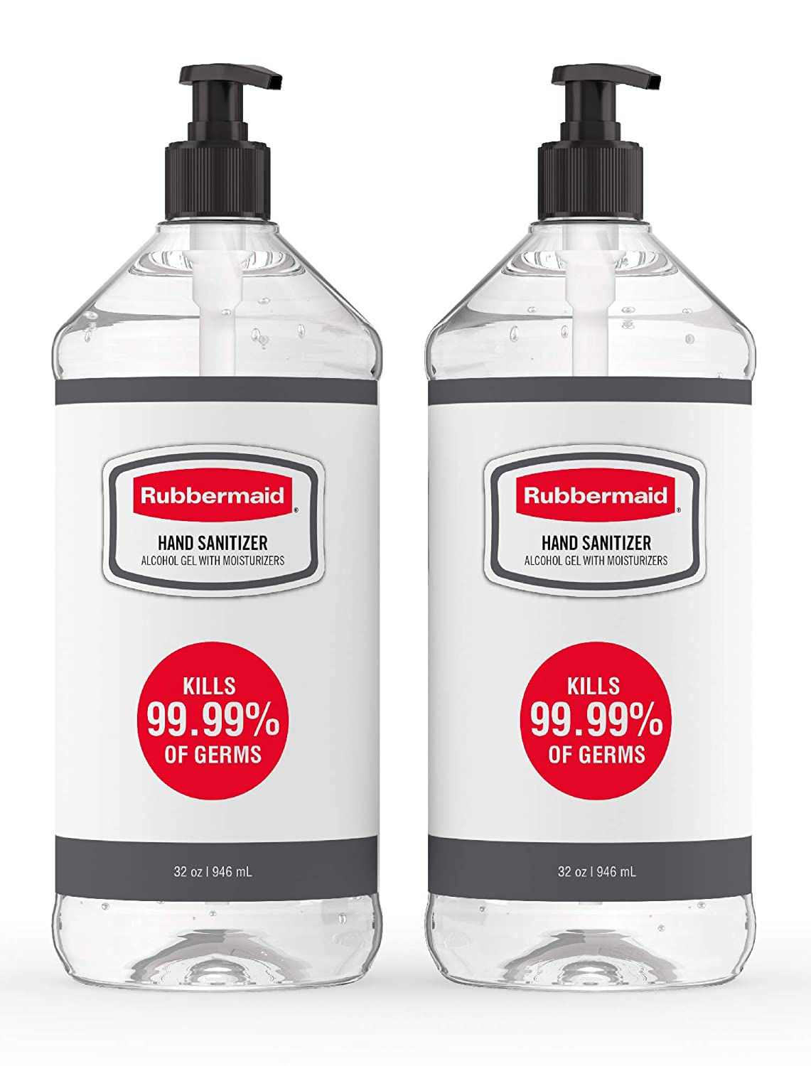 Max 84% OFF Rubbermaid security Gel Hand Sanitizer Alcohol-Based of 2 Bottles Pack