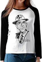 Leonard Cohen 1934-2016 Women Design Plain Raglan T Shirt Long Sleeve