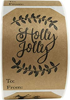 the holly jolly christmas tag