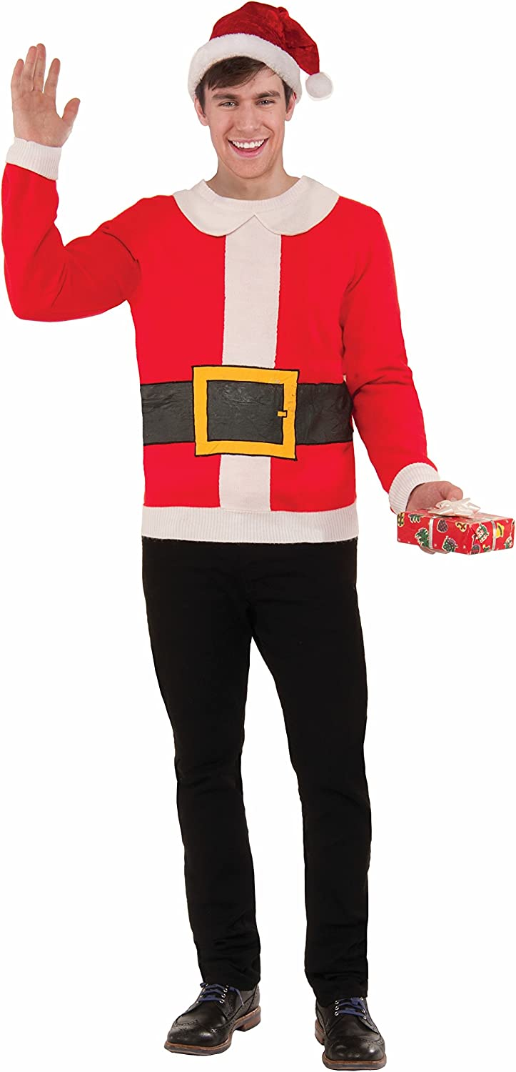 Forum Men's Plus-Size Extra Large Santa Sweater Ugly Popular Christmas Popular shop is the lowest price challenge