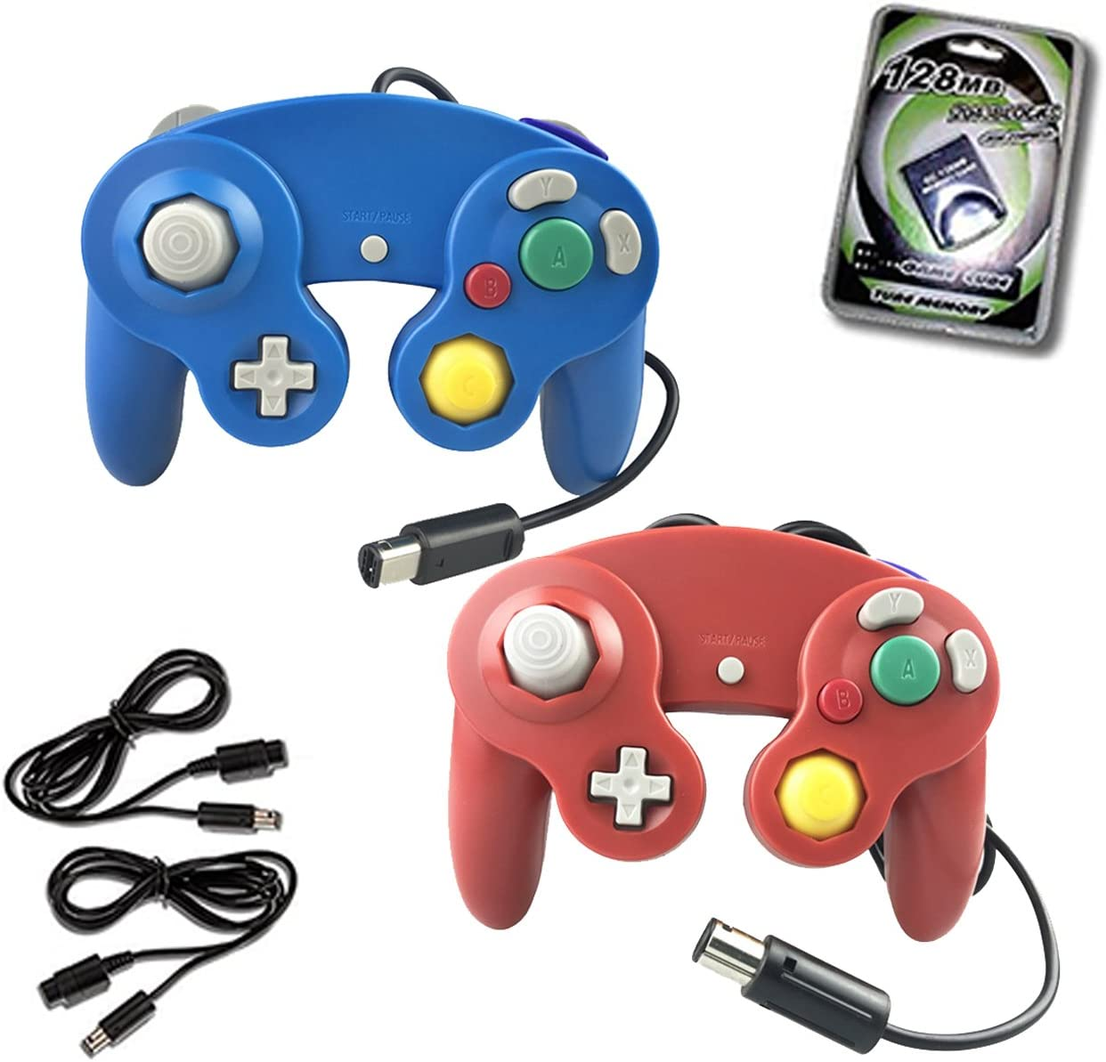 Crifeir Brand new 2 Pack Wired San Diego Mall Controller for Game NGC Ca Video with Wii