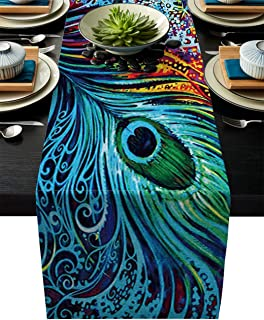 Best peacock wedding table linens Reviews