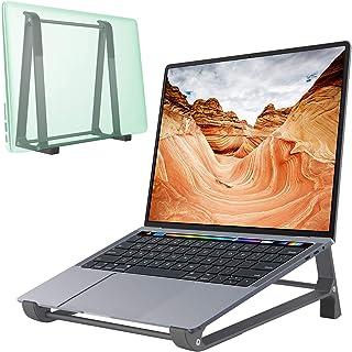 Laptop Stand for Desk [2 in 1] Laptop Vertical Stand, Ergonomic Aluminum Computer Stand, Laptop Riser Notebook Holder Comp...
