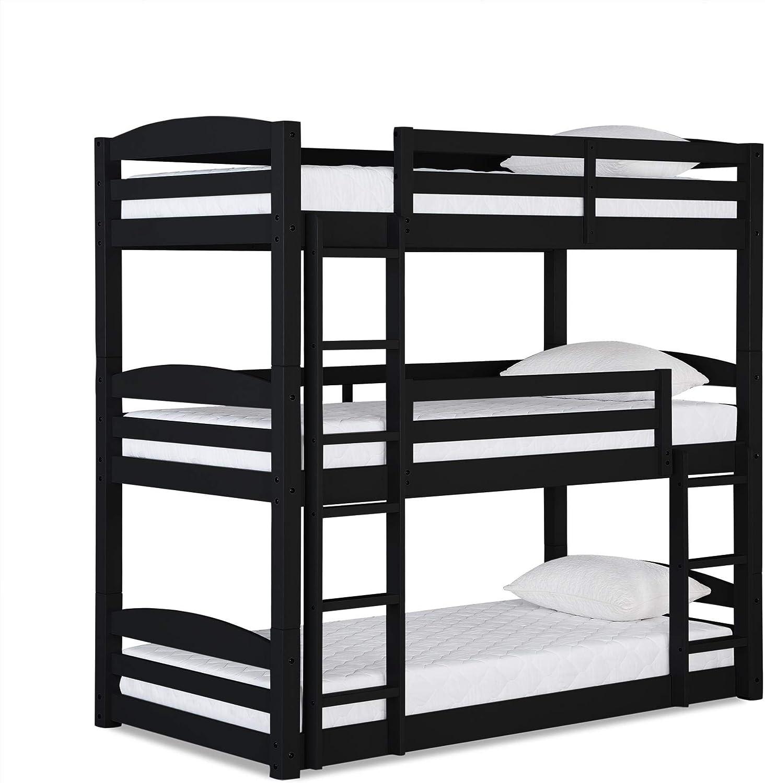 Dorel Living Sales Sierra Triple Floor in New arrival Black Bunk Bed