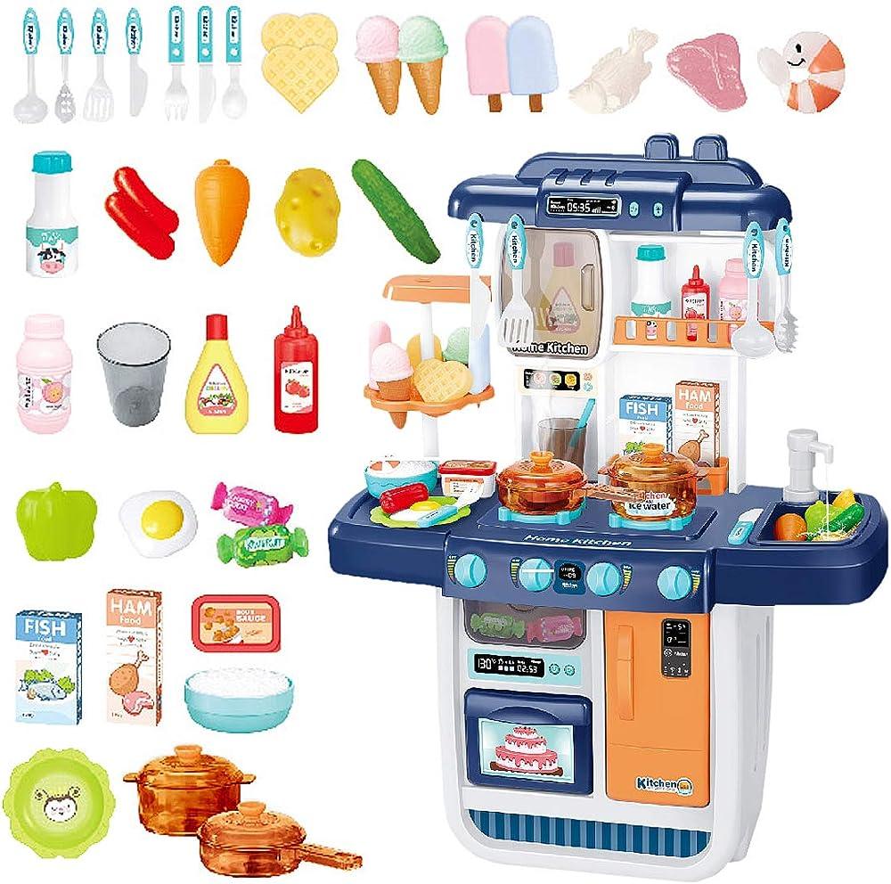 Deao cucina mio piccolo chef con caratteristiche di suoni, luci e acqua cucina giocattolo include 34 accessori K3B