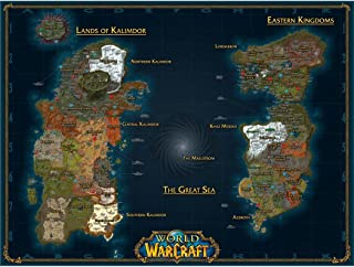 World of Warcraft Poster by Silk Printing # Size about (80cm x 60cm, 32inch x 24inch) # Unique Gift # B54FC7