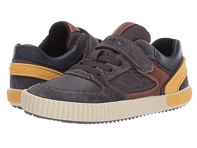 Geox Kids Jr Alonisso 40 (Little Kid/Big Kid) (Grey/Yellow) Boys Shoes