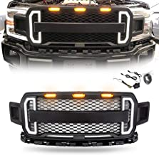 Modifying Front Grill for 2018 2019 Ford F-150 F150 Raptor Style Grille Kits with 3 Amber LED Lights and Switchback LED Turning Signal