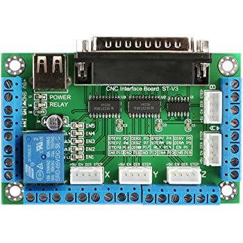 SainSmart 5-Axis Mach3 USB Controller Card STB5100 with MPG Handy Manual Controller